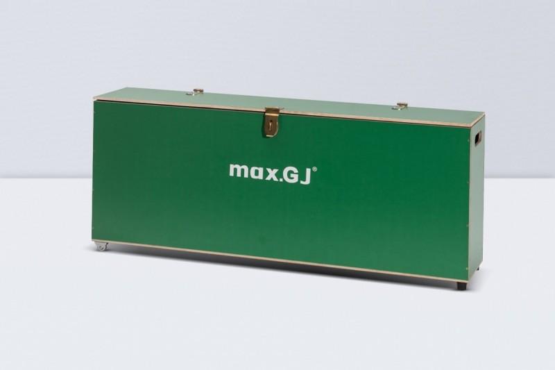 Zielona skrzynia do transportu urządzenia